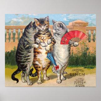 Vintage Three Little Kittens Lost Mittens Poster