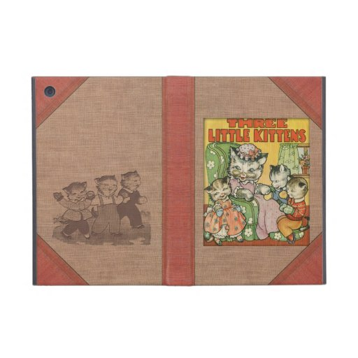 Vintage Three Little Kittens Old Book Cover Style Covers For iPad Mini