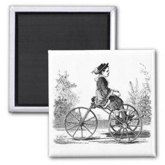 Vintage Three Wheel Bicycle Trike Fridge Magnet