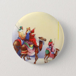 Vintage Three Wise Men Round Button