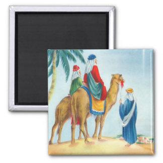 Vintage Three Wise Men Square Magnet