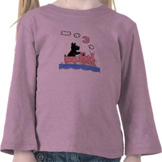 Vintage Three Year Old Girls Birthday Shirt