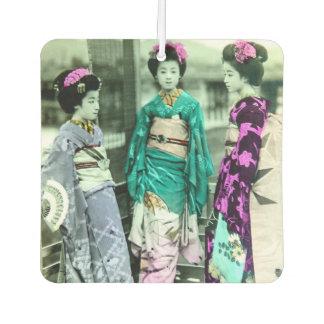 Vintage Three Young Geisha in Old Japan Air Freshener
