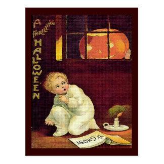 Vintage Thrilling Halloween Postcard