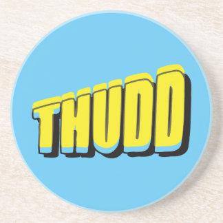 Vintage Thudd! Comic Sound Effect Drink Coaster