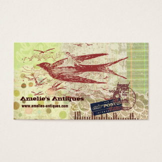 Vintage Thumbelina Collage Profile Card