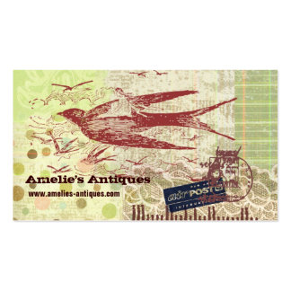 Vintage Thumbelina Collage Profile Card Double-Sided Standard Business Cards (Pack Of 100)