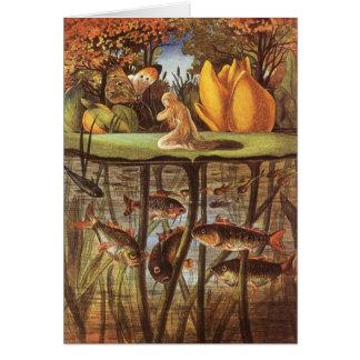 Vintage Thumbelina Fairy Tale, Eleanor Vere Boyle Greeting Card