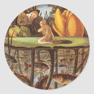 Vintage Thumbelina Fairy Tale, Eleanor Vere Boyle Classic Round Sticker
