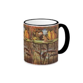 Vintage Thumbelina Fairy Tale, Eleanor Vere Boyle Ringer Coffee Mug