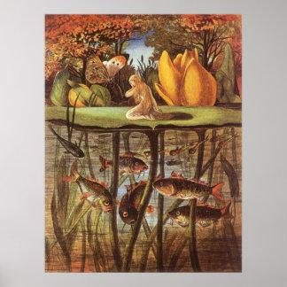 Vintage Thumbelina Fairy Tale, Eleanor Vere Boyle Posters