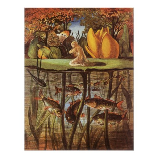 Vintage Thumbelina Fairy Tale; Eleanor Vere Boyle Posters