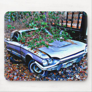 Vintage Thunderbird Rusting in Junk Yard Mouse Pad