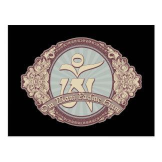 Vintage Tibetan OM Logo Post Cards