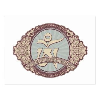 Vintage Tibetan OM Logo Postcard