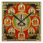 Vintage Tibetan Tantric Buddhism Mandala Wall Clocks