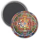 Vintage Tibetan Tantric Buddhism Mandala 3 Inch Round Magnet