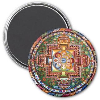Vintage Tibetan Tantric Buddhism Mandala Magnet