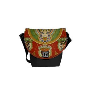 Vintage Tibetan Tantric Buddhism Mandala Messenger Bag
