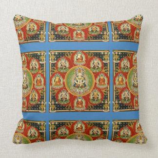 Vintage Tibetan Tantric Buddhism Mandala Throw Pillow