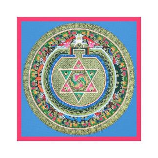 Vintage Tibetan Tantric Buddhism Mandala Wall Deco Stretched Canvas Print