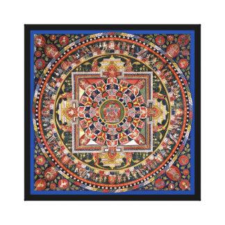 Vintage Tibetan Tantric Buddhism Mandala Wall Deco Canvas Print