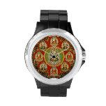 Vintage Tibetan Tantric Buddhism Mandala Wrist Watches