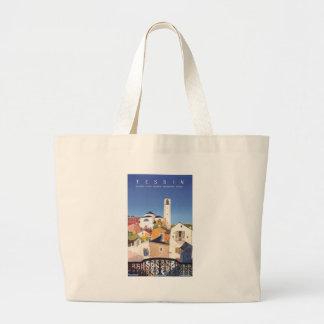 Vintage Ticino Tessin Canton Switzerland Large Tote Bag