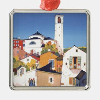 Vintage Ticino Tessin Canton Switzerland Metal Ornament