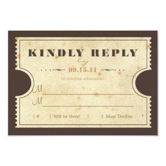 Vintage Ticket RSVP Card