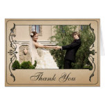 Vintage Ticket Thank you Card