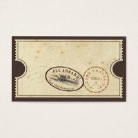 Vintage Ticket - Train Escort Card