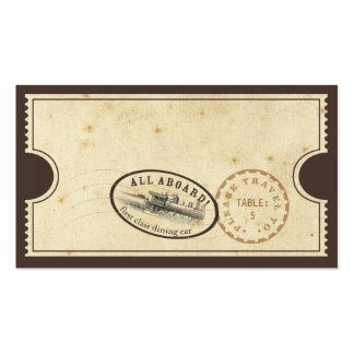 Vintage Ticket - Train Escort Card Double-Sided Standard Business Cards (Pack Of 100)