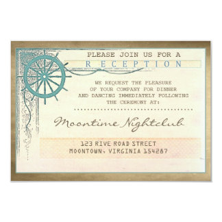 vintage ticket wedding old nautical reception card