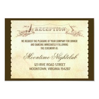 vintage ticket wedding reception design invites