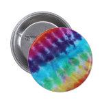 Vintage Tie Dye Pattern Hippie Rainbow 1960s 2 Inch Round Button
