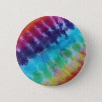 Vintage Tie Dye Pattern Hippie Rainbow 1960s Pinback Button