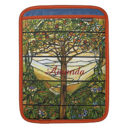 Vintage Tiffany Stained Glass Window Personalized iPad Sleeve