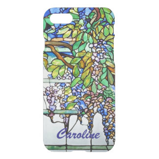Vintage Tiffany Stained Glass Wisteria Floral Art iPhone 7 Case