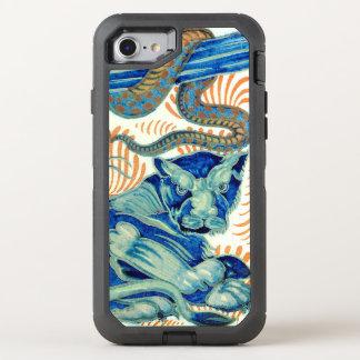 Vintage Tiger And Snake Design OtterBox Defender iPhone 8/7 Case