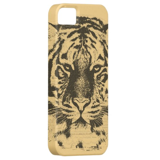 Vintage Tiger Face iPhone SE/5/5s Case