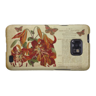 Vintage Tiger Lily Botanical Illustration Samsung Galaxy SII Cover