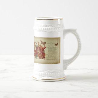 Vintage Tiger Lily Botanical Illustration Coffee Mugs
