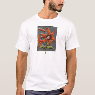 Vintage Tiger Lily Girl T-Shirt