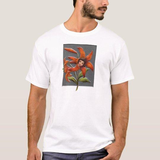 Vintage Tiger Lily Girl T-Shirt