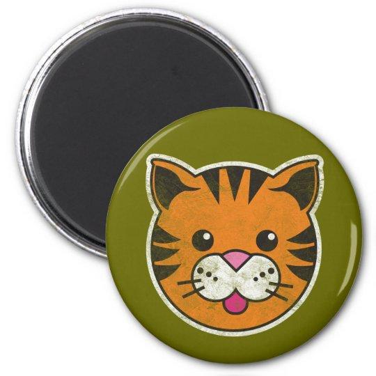 Vintage Tiger Magnet