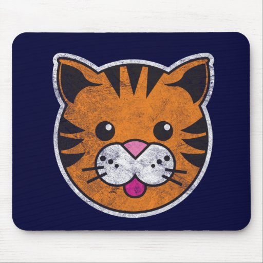 Vintage Tiger Mouse Pad