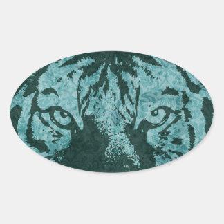 vintage tiger oval sticker