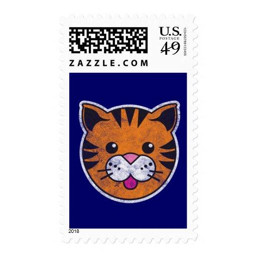 Vintage Tiger Postage Stamps
