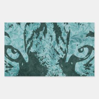 vintage tiger rectangular sticker